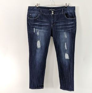 Maurices Jeans - Maurices Plus Destroyed Faded Jeans Stretch